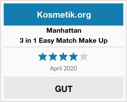 Manhattan 3 in 1 Easy Match Make Up Test