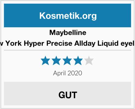 Maybelline New York Hyper Precise Allday Liquid eyeliner Test