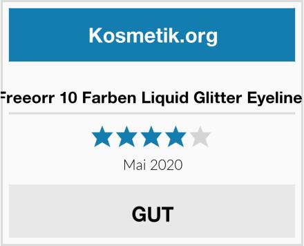 Freeorr 10 Farben Liquid Glitter Eyeliner Test