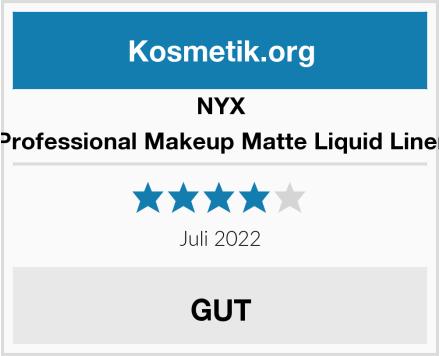 NYX Professional Makeup Matte Liquid Liner Test