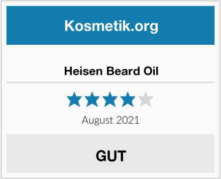 Heisen Beard Oil Test