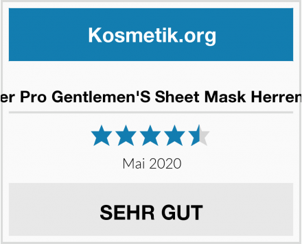 BeautyPro Barber Pro Gentlemen'S Sheet Mask Herren Gesichtsmaske Test