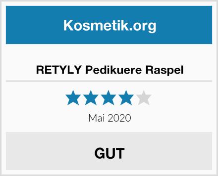 RETYLY Pedikuere Raspel Test