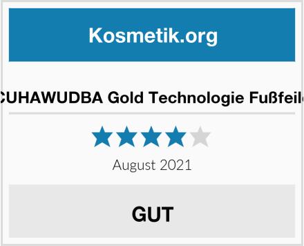 CUHAWUDBA Gold Technologie Fußfeile Test