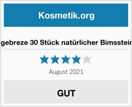Timagebreze 30 Stück natürlicher Bimsstein Fuß Test