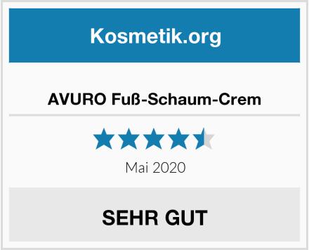 AVURO Fuß-Schaum-Crem Test