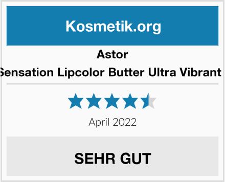 Astor Soft Sensation Lipcolor Butter Ultra Vibrant Color Test
