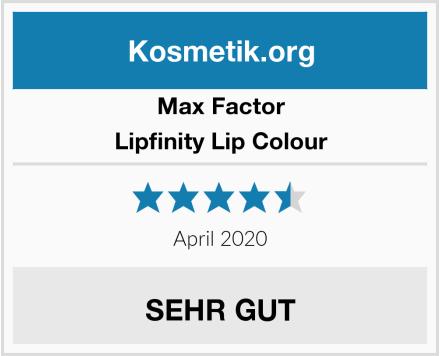 Max Factor Lipfinity Lip Colour Test