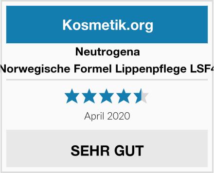 Neutrogena Norwegische Formel Lippenpflege LSF4 Test