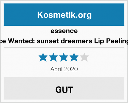 essence Essence Wanted: sunset dreamers Lip Peeling Nr. 01 Test