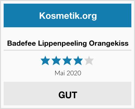 Badefee Lippenpeeling Orangekiss Test