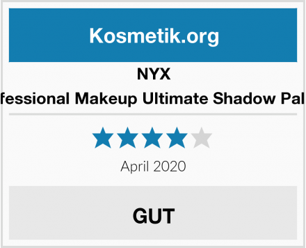 NYX Professional Makeup Ultimate Shadow Palette Test