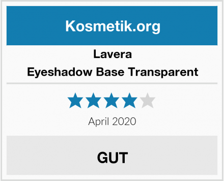 Lavera Eyeshadow Base Transparent Test
