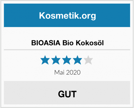 BIOASIA Bio Kokosöl Test