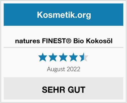 natures FINEST® Bio Kokosöl Test