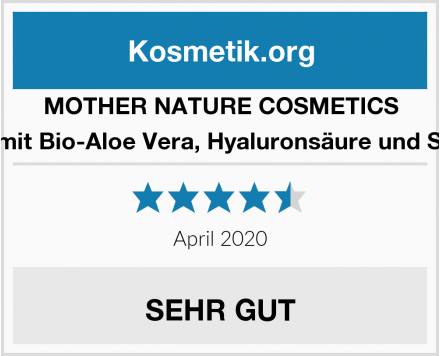 MOTHER NATURE COSMETICS Waschgel mit Bio-Aloe Vera, Hyaluronsäure und Salizylsäure Test