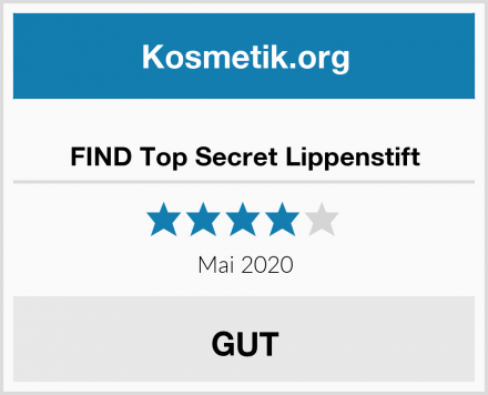 FIND Top Secret Lippenstift Test
