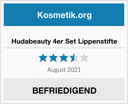 Hudabeauty 4er Set Lippenstifte Test
