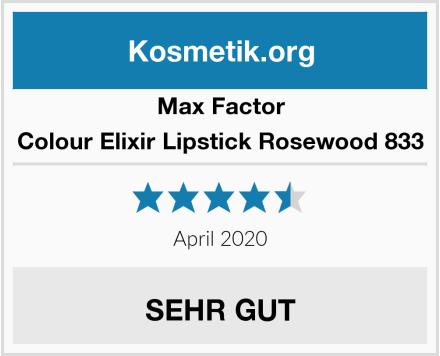 Max Factor Colour Elixir Lipstick Rosewood 833 Test