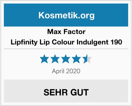 Max Factor Lipfinity Lip Colour Indulgent 190 Test