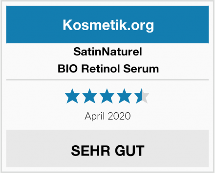 SatinNaturel BIO Retinol Serum Test