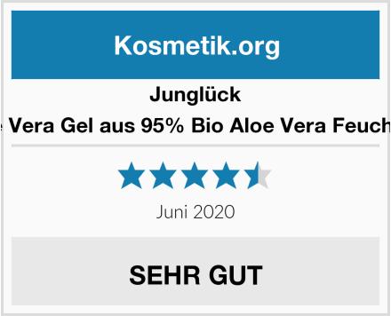 Junglück Junglück Aloe Vera Gel aus 95% Bio Aloe Vera Feuchtigkeitspflege Test