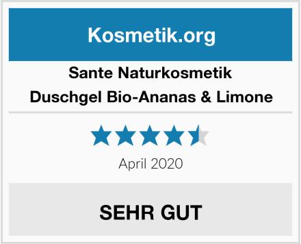 SANTE Naturkosmetik Duschgel Bio-Ananas & Limone Test