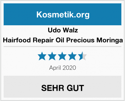 Udo Walz Hairfood Repair Oil Precious Moringa Test