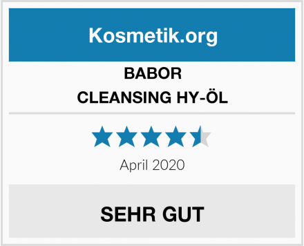 BABOR CLEANSING HY-ÖL Test