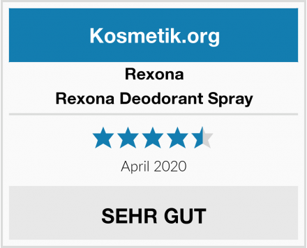 Rexona Rexona Deodorant Spray Test