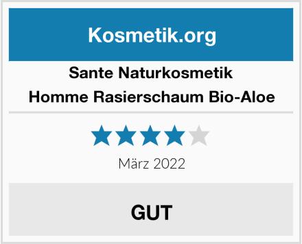 SANTE Naturkosmetik Homme Rasierschaum Bio-Aloe Test