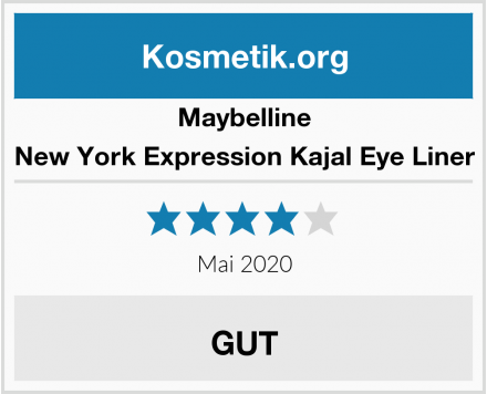 Maybelline New York Expression Kajal Eye Liner Test