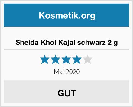Sheida Khol Kajal schwarz 2 g Test