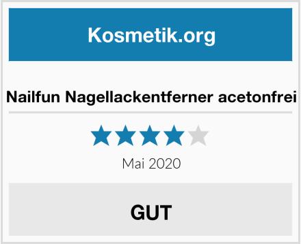 Nailfun Nagellackentferner acetonfrei Test
