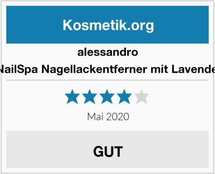 alessandro NailSpa Nagellackentferner mit Lavendel Test