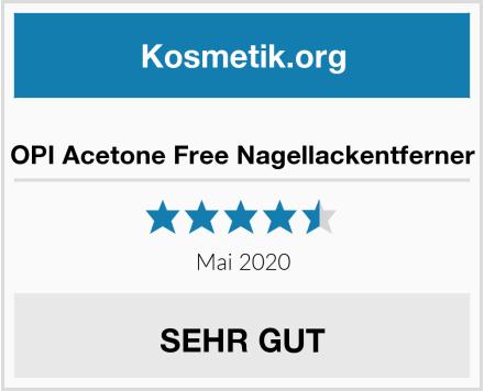 OPI Acetone Free Nagellackentferner Test