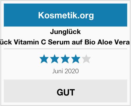 Junglück Junglück Vitamin C Serum auf Bio Aloe Vera Basis Test