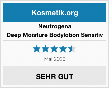 Neutrogena Deep Moisture Bodylotion Sensitiv Test