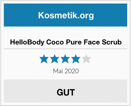 HelloBody Coco Pure Face Scrub Test