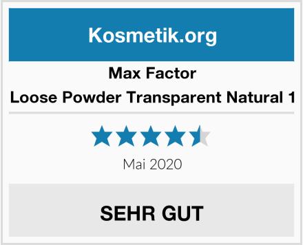 Max Factor Loose Powder Transparent Natural 1 Test