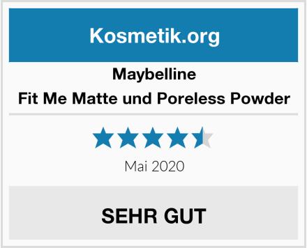 Maybelline Fit Me Matte und Poreless Powder Test