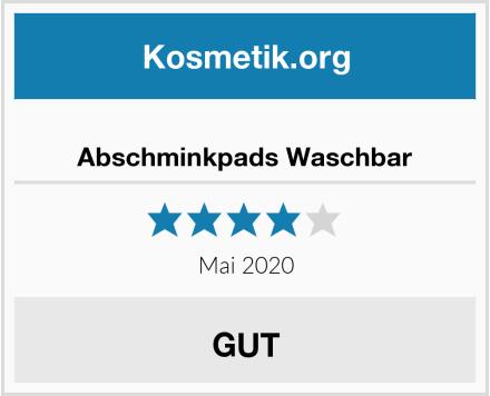Abschminkpads Waschbar Test