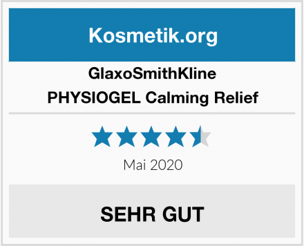 GlaxoSmithKline PHYSIOGEL Calming Relief Test