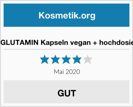 L-GLUTAMIN Kapseln vegan + hochdosiert Test