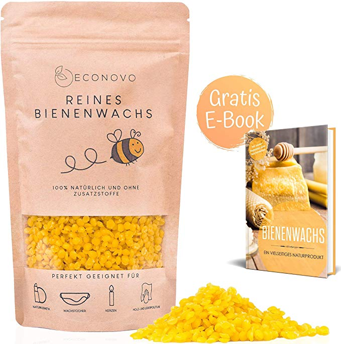 Econovo® 100% natürliches Bienenwachs ohne Zusätze