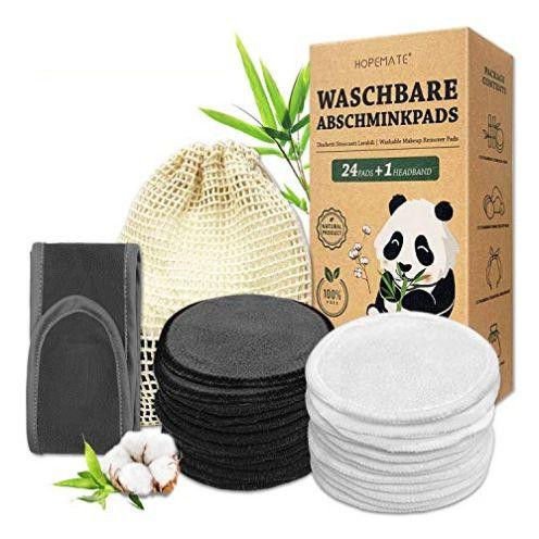 Hopemate 24 Stück Abschminkpads Waschbar