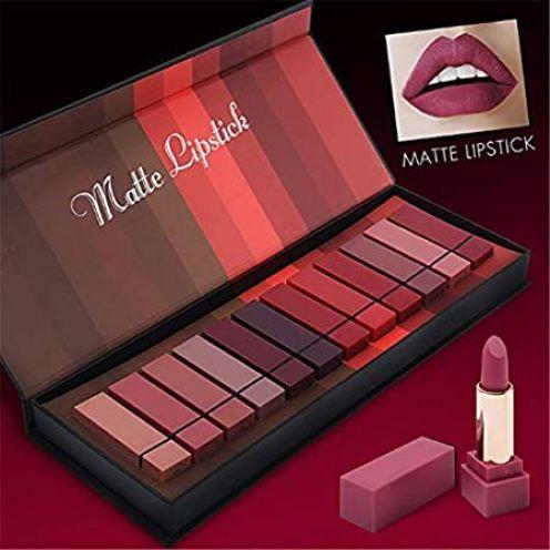 Perbeauty 12 Farben Matte Lippenstift Set