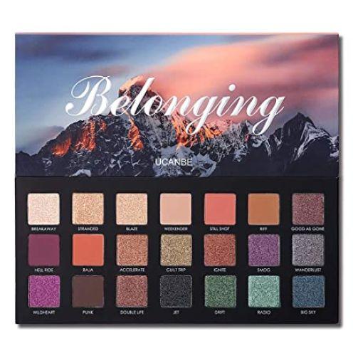 UCANBE 21 Farben Shimmer Matte Lidschatten-Make-up-Palette