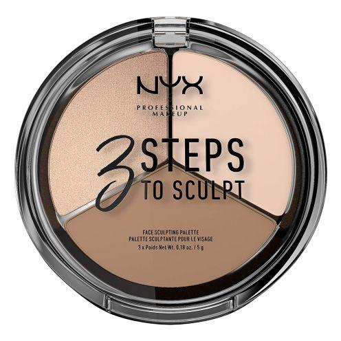 NYX Makeup 3 Steps to Sculpt Face Sculpting Palette