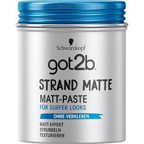 Schwarzkopf Professional got2b strand matte Matt-Paste surfer look